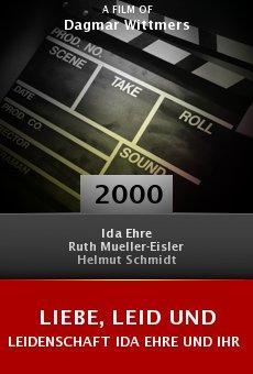Liebe, Leid und Leidenschaft Ida Ehre und ihr Theater online free