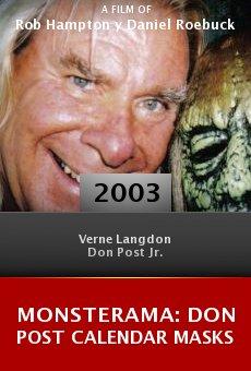 Monsterama: Don Post Calendar Masks online free