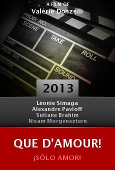 Watch Que d'amour! online stream