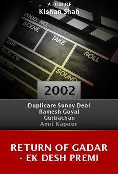 Return Of Gadar - Ek Desh Premi online free