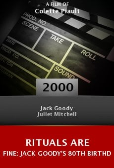 Rituals Are Fine: Jack Goody's 80th Birthday online free