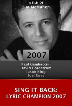Sing It Back: Lyric Champion 2007 online free