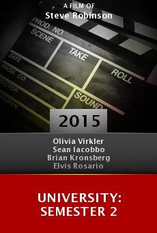 University: Semester 2 online