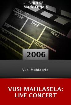 Vusi Mahlasela: Live Concert online free