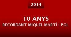 Película 10 anys recordant Miquel Martí i Pol