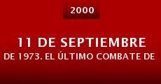 Película 11 de septiembre de 1973. El último combate de Salvador Allende
