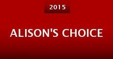 Película Alison's Choice