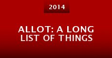 Película ALLoT: A Long List of Things
