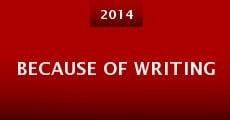 Because of Writing (2014) stream