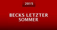 Película Becks Letzter Sommer