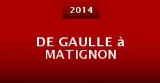 Película De Gaulle à Matignon