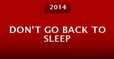 Película Don't Go Back to Sleep
