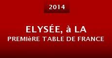Película Elysée, à la première table de France