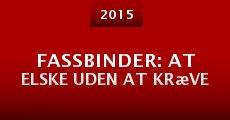 Ver película Fassbinder: at elske uden at kræve