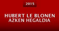 Película Hubert Le Blonen azken hegaldia