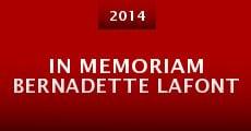 In Memoriam Bernadette Lafont (2014) stream