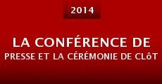 La conférence de presse et la cérémonie de clôture du Fifigrot 2014 (2014) stream