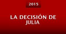 Película La decisión de Julia