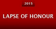Película Lapse of Honour