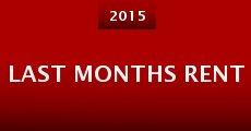 Película Last Months Rent