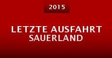 Película Letzte Ausfahrt Sauerland