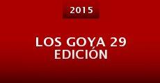 Película Los Goya 29 edición