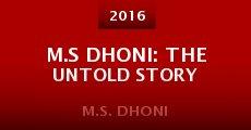 Película M.S Dhoni: The Untold Story