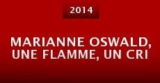 Película Marianne Oswald, une flamme, un cri