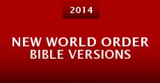 Película New World Order Bible Versions