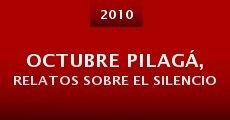 Película Octubre Pilagá, relatos sobre el silencio