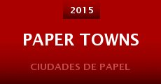 Paper Towns (2015) stream