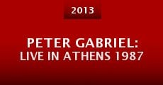 Peter Gabriel: Live in Athens 1987 (2013) stream
