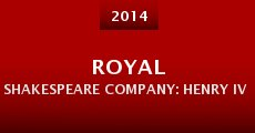 Película Royal Shakespeare Company: Henry IV Part I