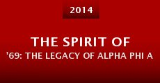 The Spirit of '69: The Legacy of Alpha Phi Alpha at the University of Georgia (2014)