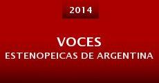 Voces Estenopeicas de Argentina (2014)