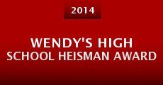 Wendy's High School Heisman Award (2014) stream